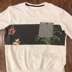Tan Sweatshirt with some flowers